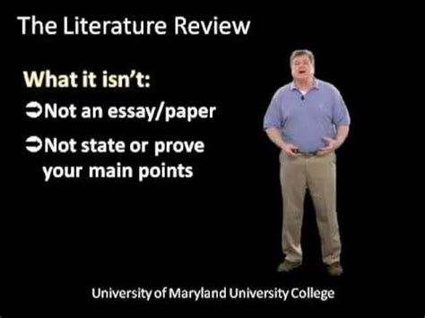 What does literature review mean in a report